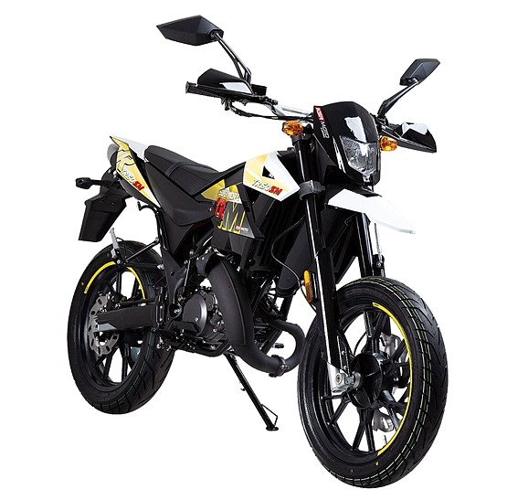 KSR MOTO TR50SM, 2-Takt Euro 4, EU Klass 1, Gul/Svart